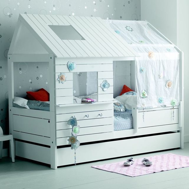 lit cabane fille alfred et compagnie pas cher lit enfant. Black Bedroom Furniture Sets. Home Design Ideas