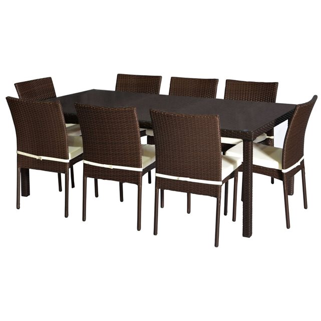 Table de jardin 8 chaises happy garden pas cher salon - Table de salon la redoute ...