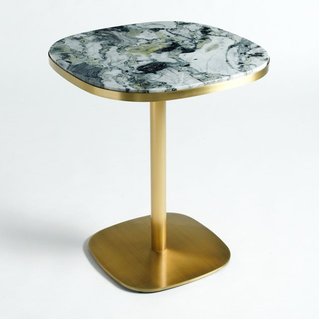 Table de bistrot marbre lixfeld laiton vieilli am pm table am pm ventes pas - Table de bistrot en marbre ...