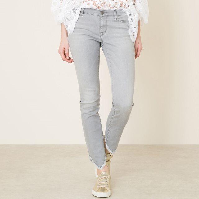 Jean slim Cora Aspen gris True Nyc - Jeans Femme La Redoute