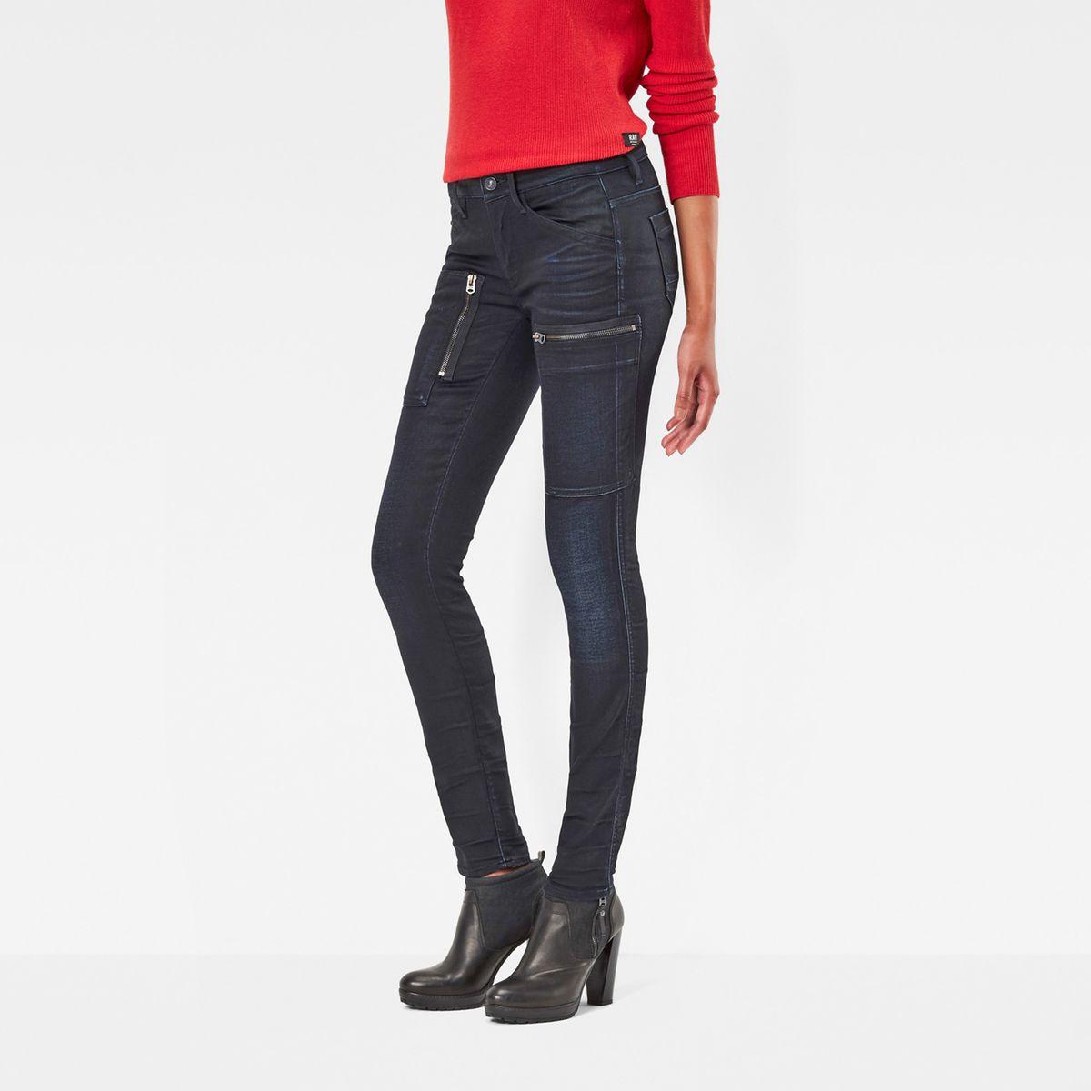 jean powel skinny taille standard g star jeans femme la. Black Bedroom Furniture Sets. Home Design Ideas
