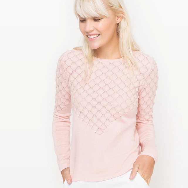 Pull col rond soie Nude Mademoiselle R - Pull Femme La Redoute