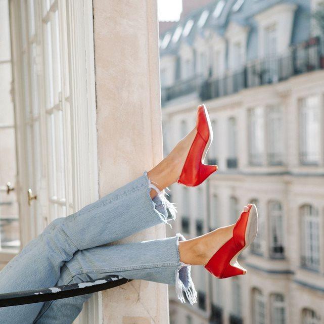 Escarpins Friday rouge Sessun exclusivité Brand boutique