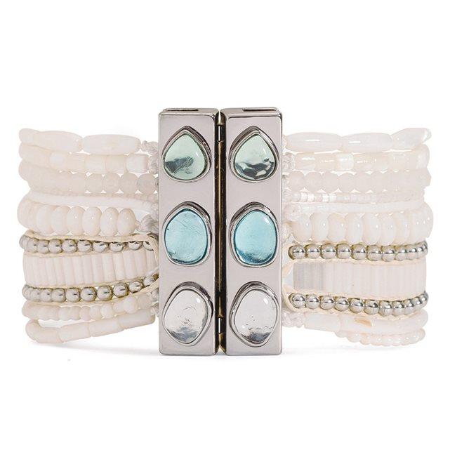 Bracelet brésilien Allegra blanc Hipanema