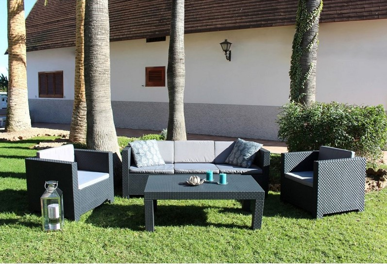 tropea salon de jardin 5 places concept usine salon de. Black Bedroom Furniture Sets. Home Design Ideas