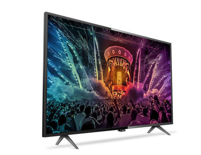 philips 55put6101 pas cher tv led 55 39 139cm tv 4k rue du commerce ventes pas. Black Bedroom Furniture Sets. Home Design Ideas