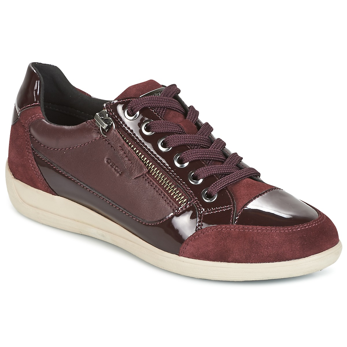 Geox D MYRIA Bordeaux Baskets Basses Femme