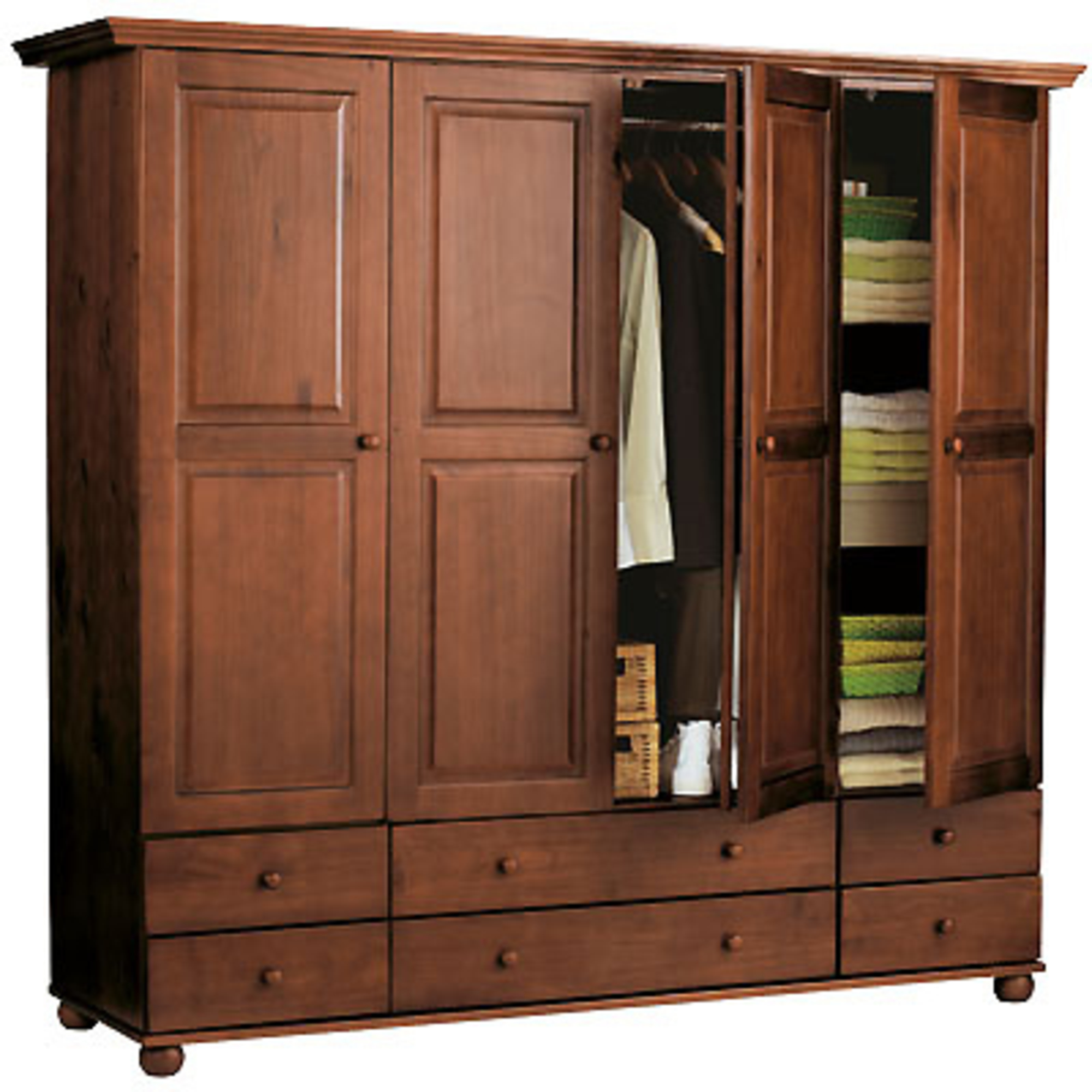 armoire la maison de valerie armoire annecy 4 portes 6 tiroirs 1 2 penderie 1 2 ling re. Black Bedroom Furniture Sets. Home Design Ideas