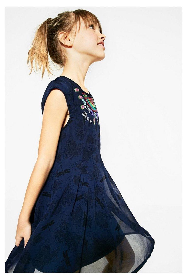 Robe bleue à manches courtes Victoria Desigual