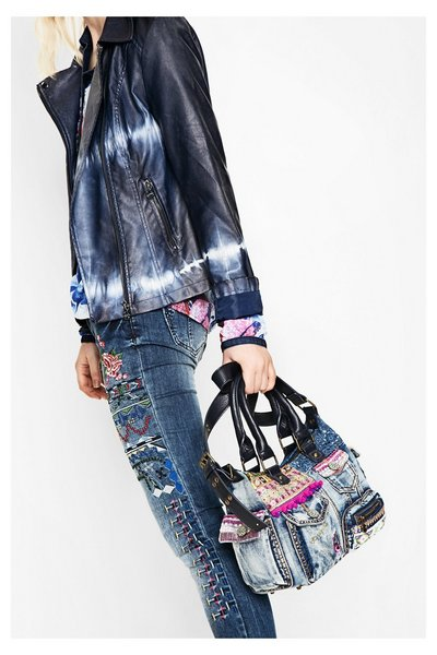 Sac en denim London Mini Exotic Jeans Desigual