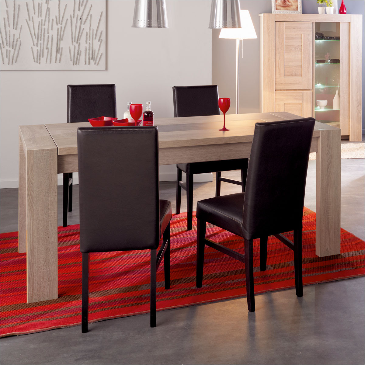 table l 240 cm buffet lubjana table pas cher auchan ventes pas. Black Bedroom Furniture Sets. Home Design Ideas