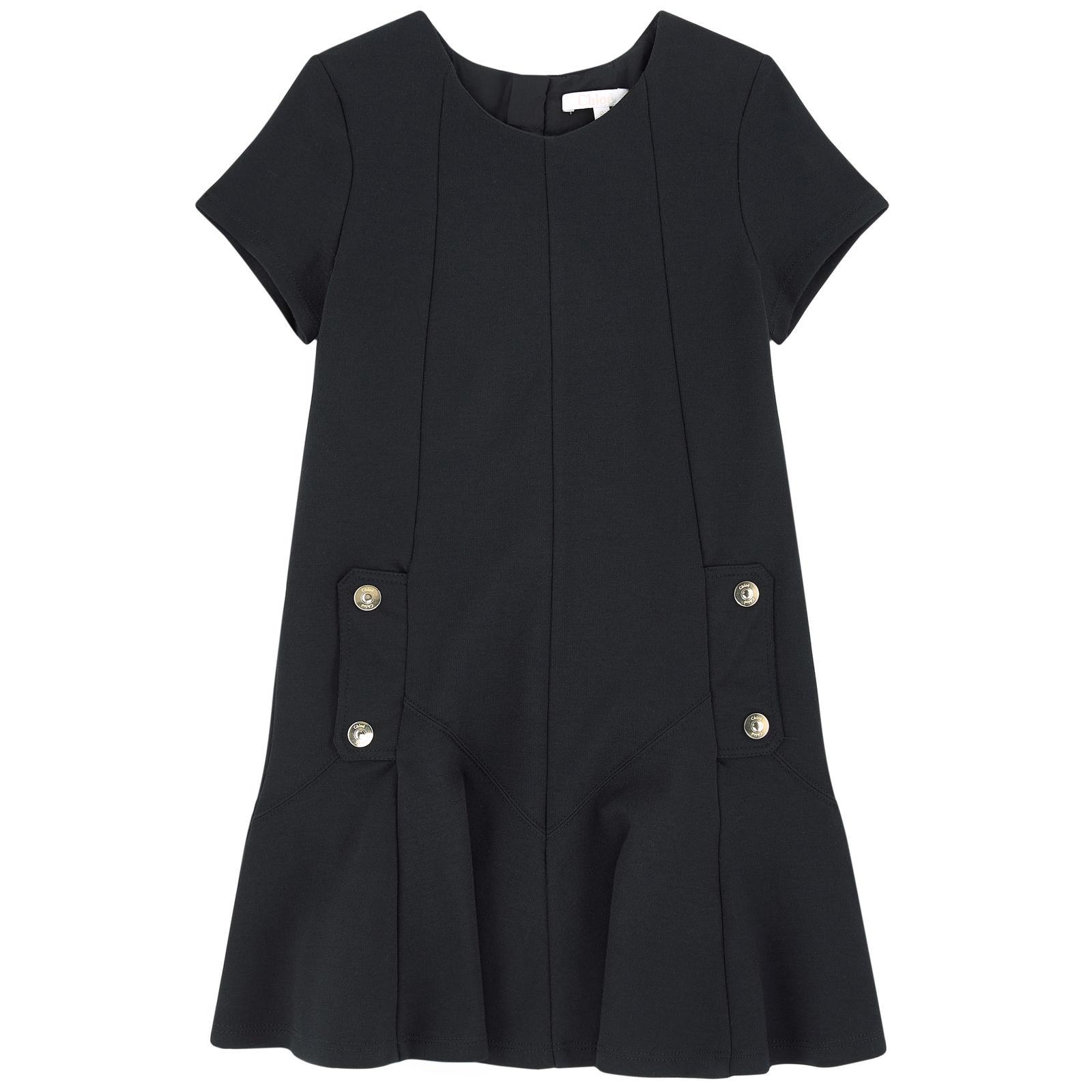 Robe Mini Me à godets Chloé en maille milano - Robe Fille Melijoe