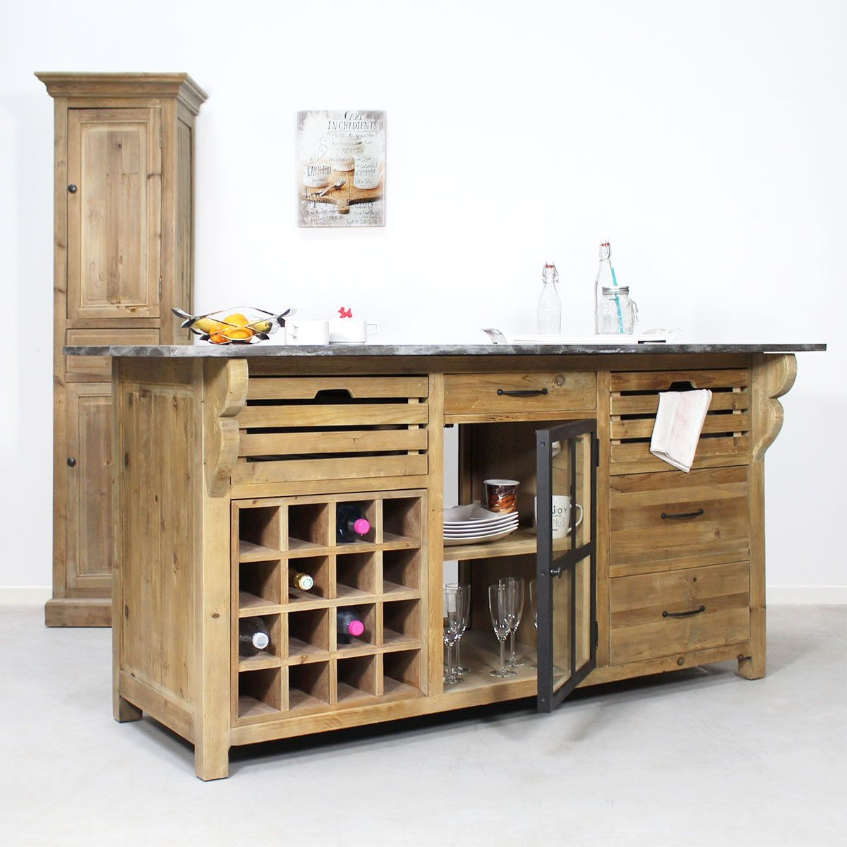 Centre De Cuisine Range Bouteille Authentiq Pin Recycle Made In