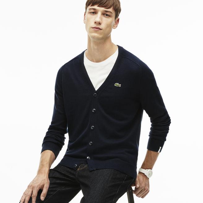 Cardigan Lacoste LIVE en jersey chiné