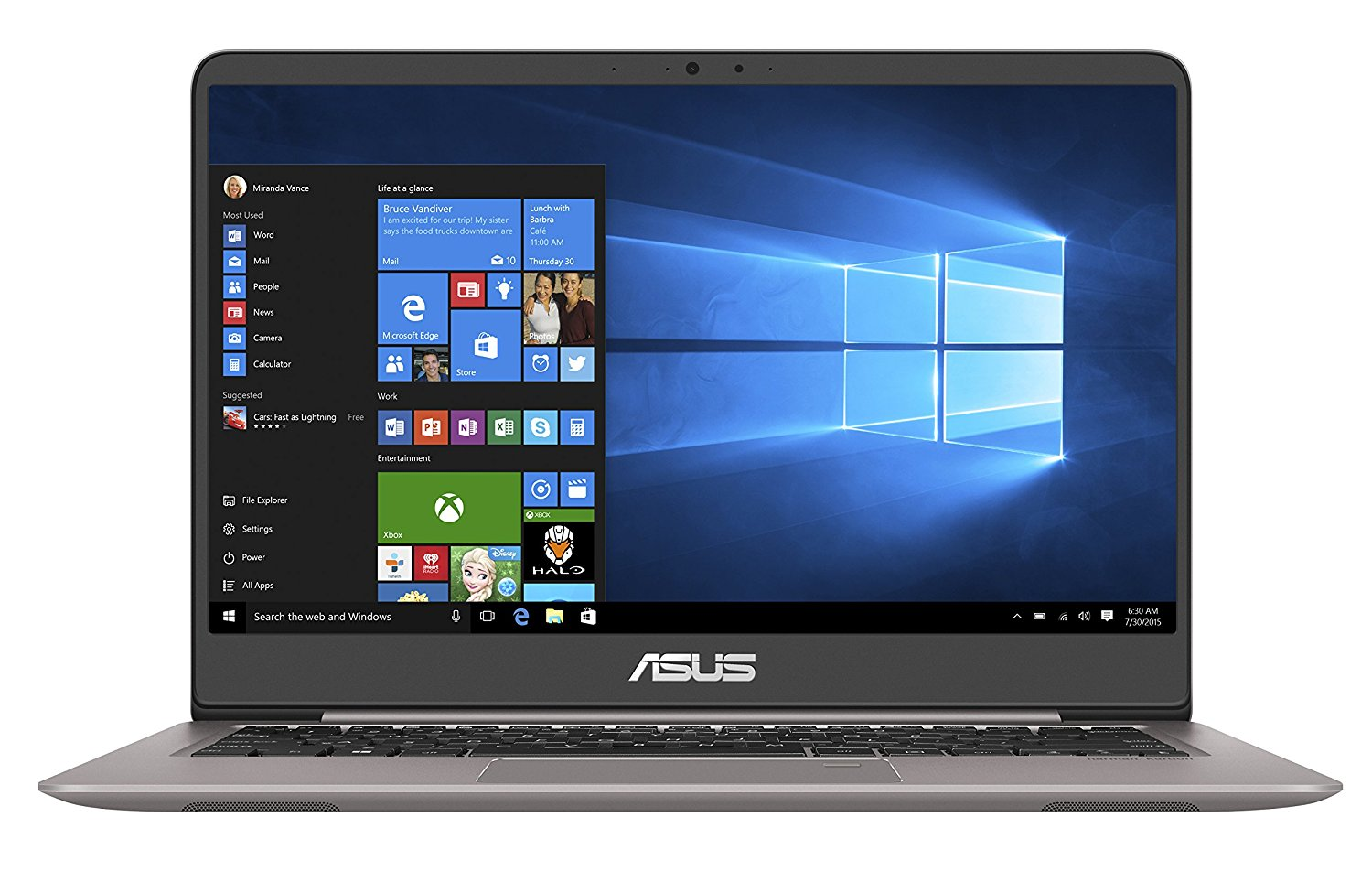 asus ux410uq gv084t ultrabook 14 39 39 ips gris m tal pc. Black Bedroom Furniture Sets. Home Design Ideas