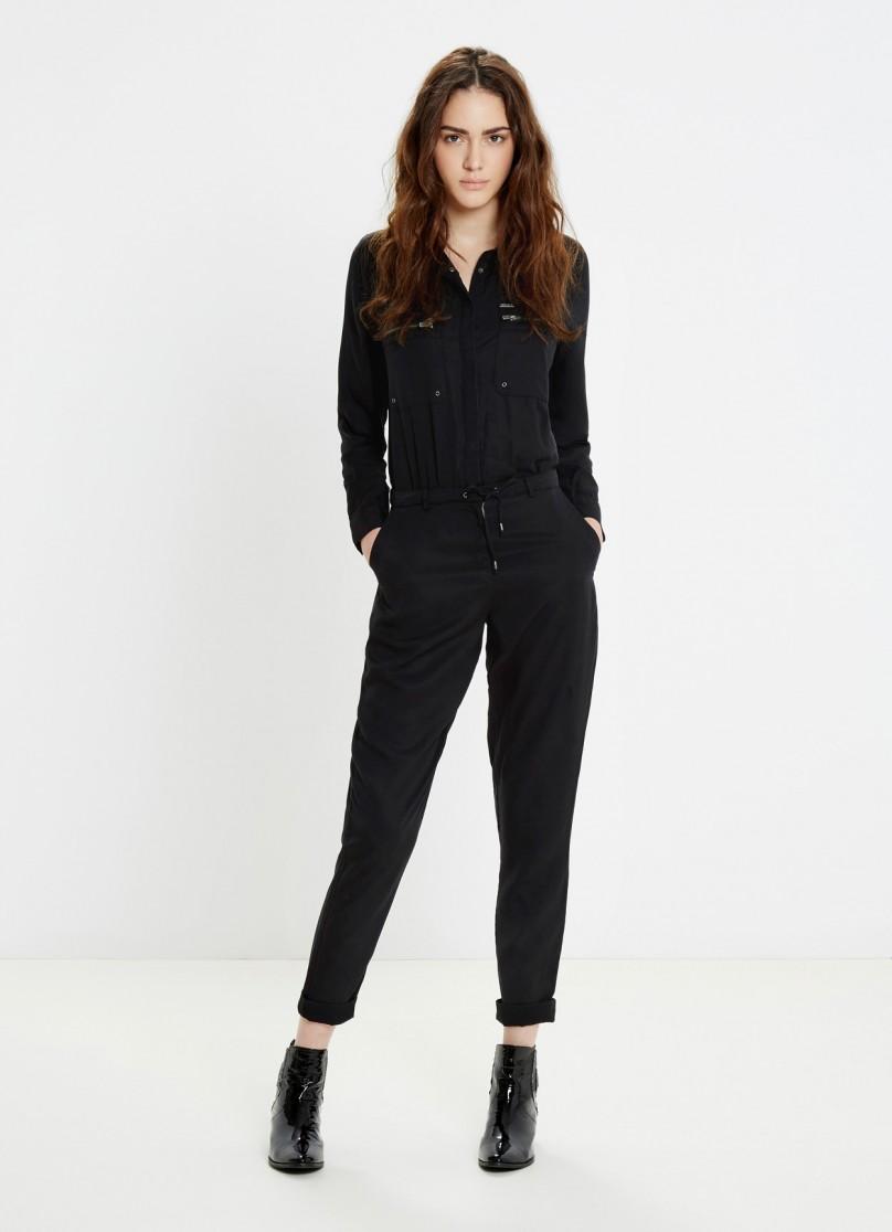 combi pantalon fluide noir militaire rita pepe jeans combinaison femme pepe jeans ventes pas. Black Bedroom Furniture Sets. Home Design Ideas