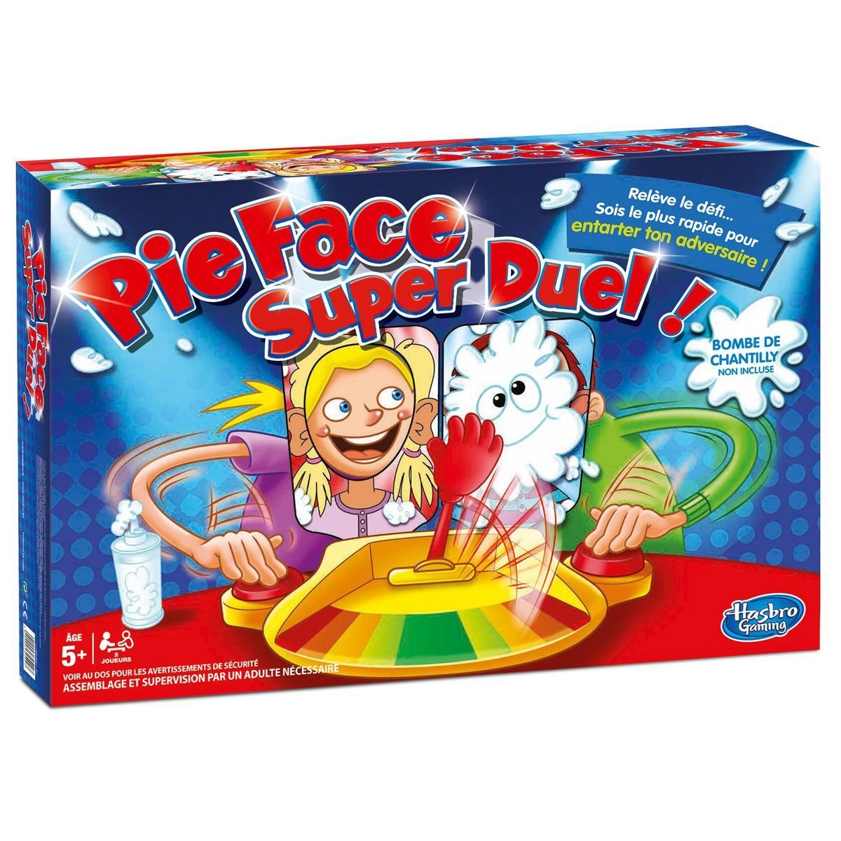 Hasbro - Pie Face Super Duel - Le Jeu de la Chantilly, Jeu pas cher Amazon