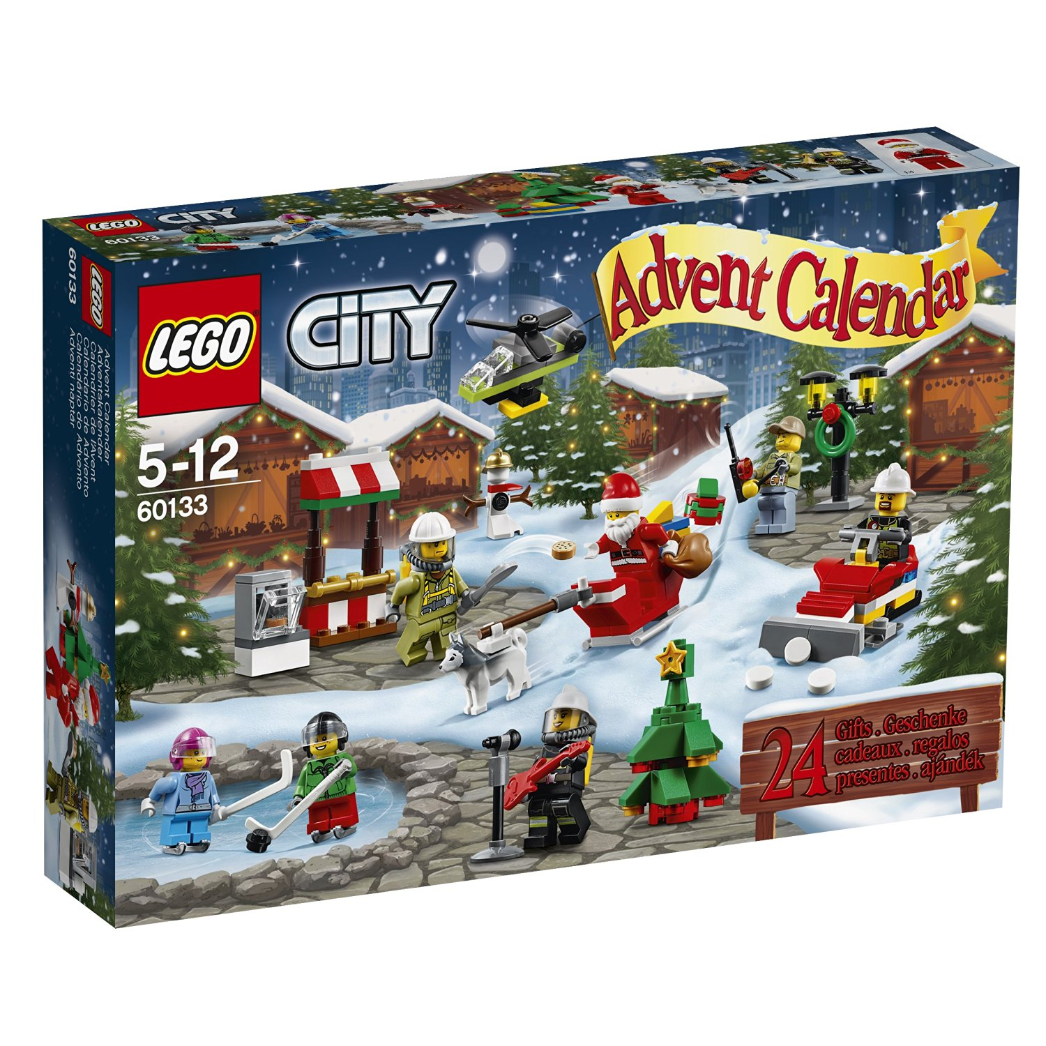 lego city calendrier de l 39 avent jouet pas cher amazon. Black Bedroom Furniture Sets. Home Design Ideas