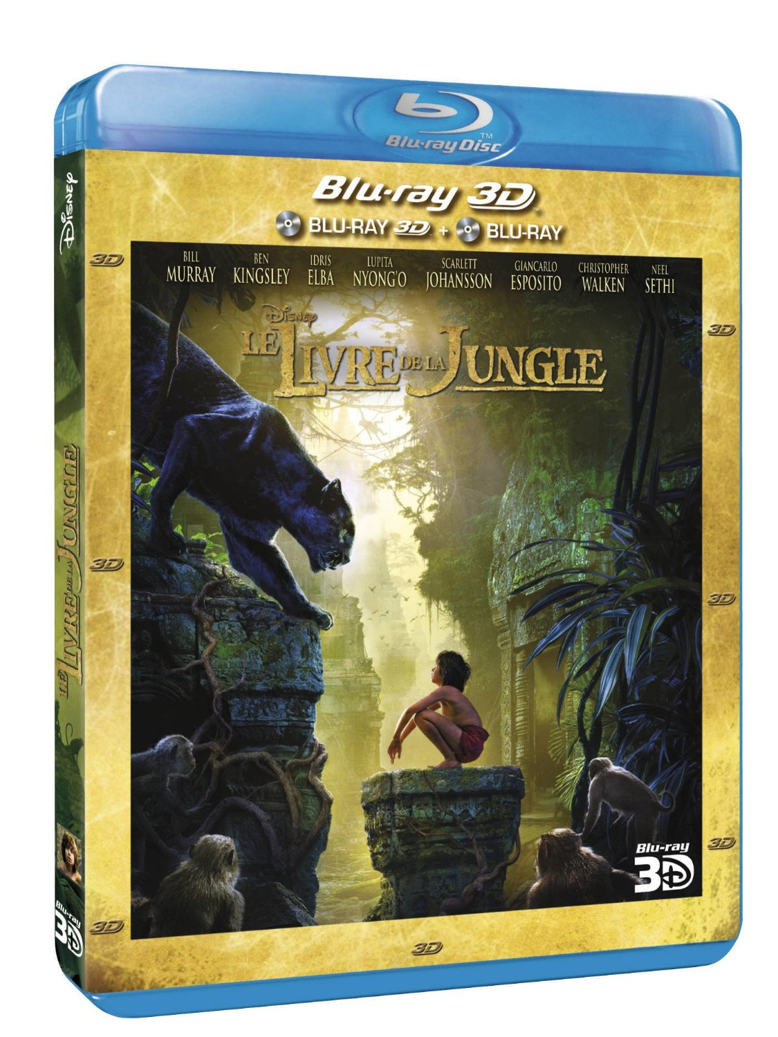 le livre de la jungle combo blu ray 3d blu ray 2d ventes pas. Black Bedroom Furniture Sets. Home Design Ideas
