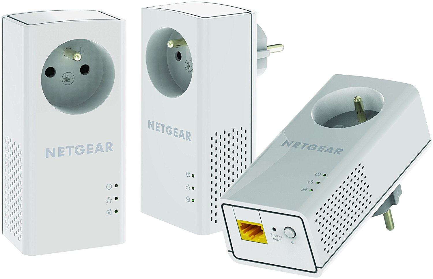 netgear plp1000t 100frs pack de 3 cpls avec prise cpl pas. Black Bedroom Furniture Sets. Home Design Ideas