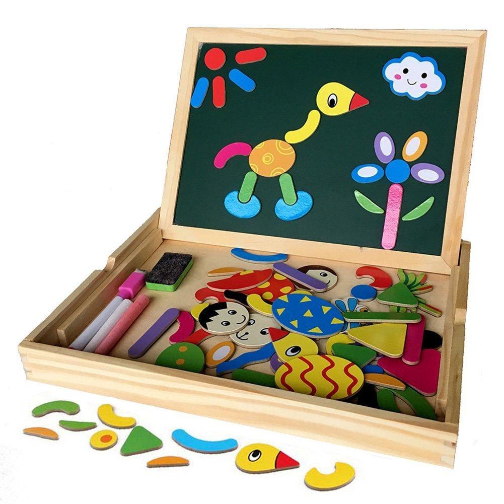 jouets ducatifs en bois planche dessin magnetique avec bo te puzzle blocs tableau jouet. Black Bedroom Furniture Sets. Home Design Ideas