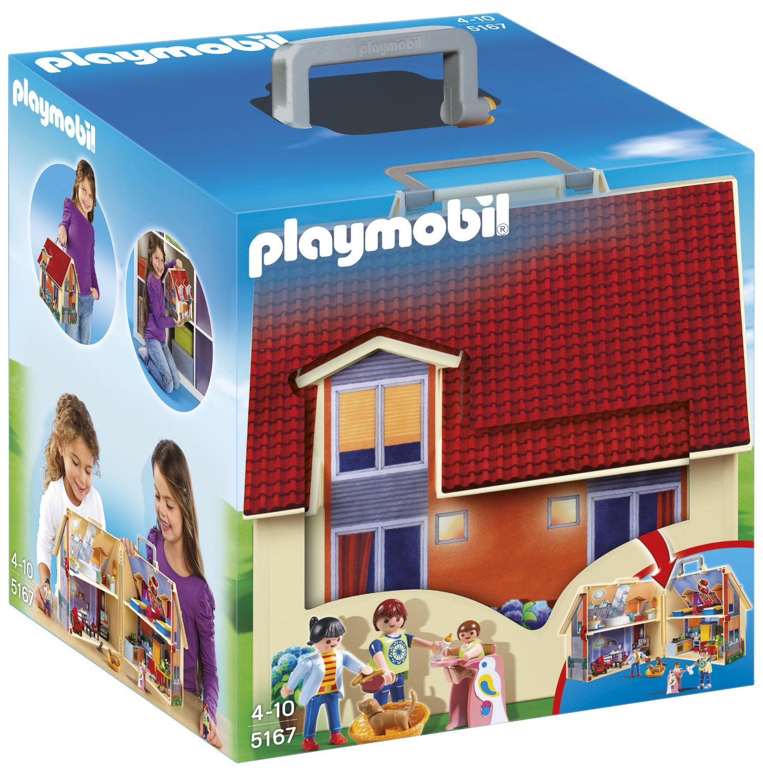 Jeu de Construction Playmobil - Maison Transportable, Jeu de Construction pas cher Amazon