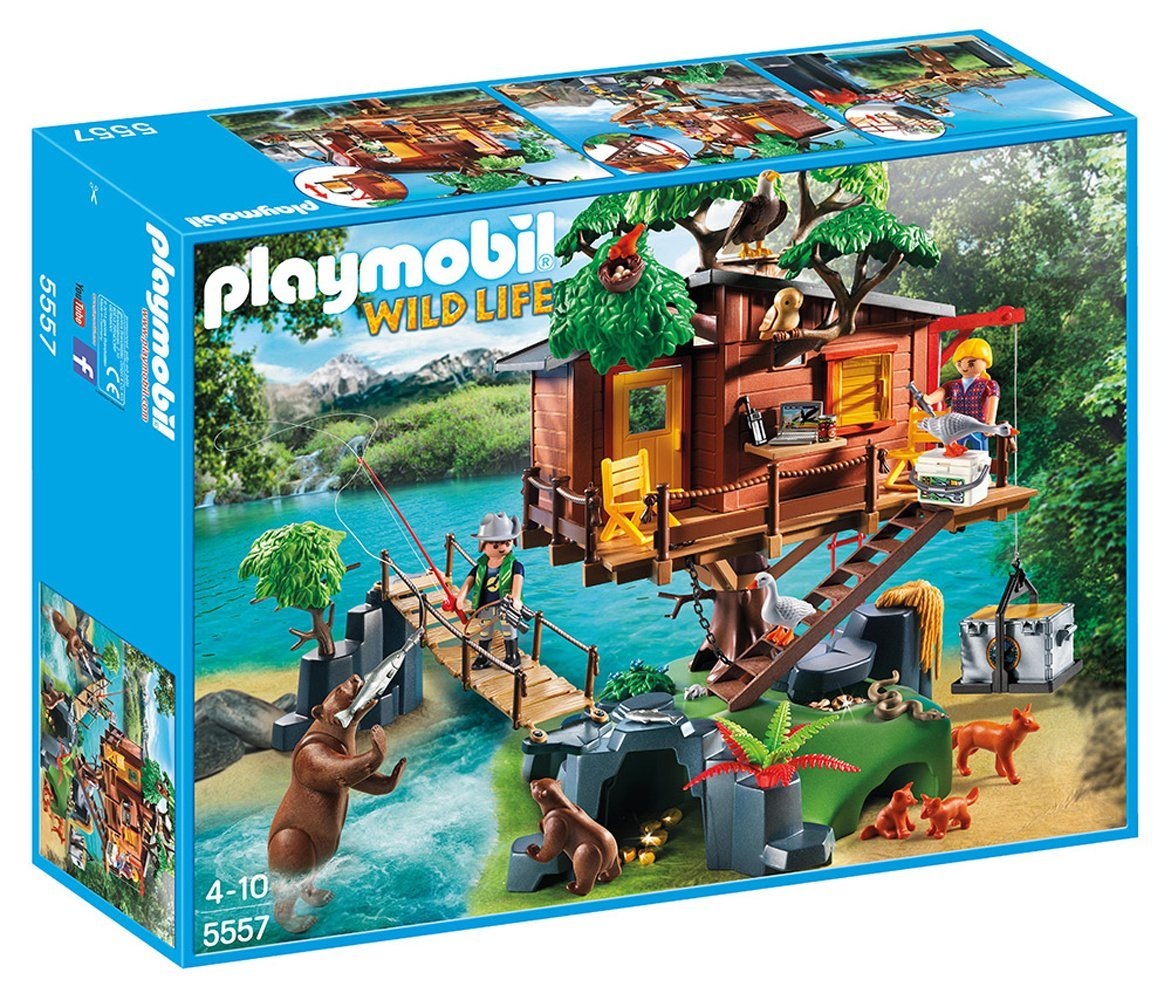 playmobil cabane des aventuriers dans les arbres jouet. Black Bedroom Furniture Sets. Home Design Ideas