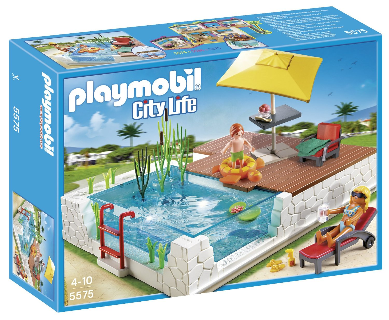 Playmobil 5575 jeu de construction piscine avec for Construction piscine pas cher