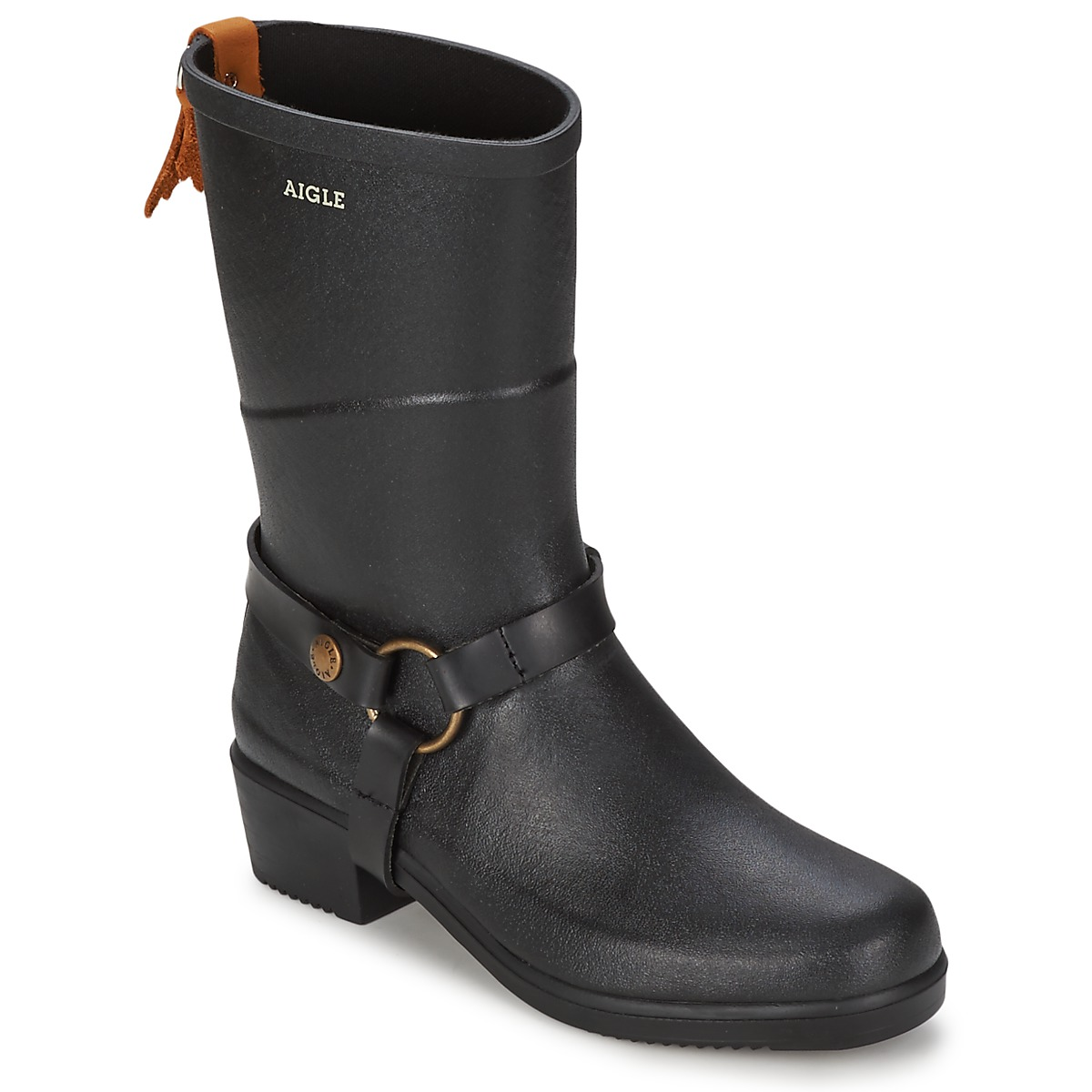 bottes de pluie aigle miss julie noir bottes de pluie femme spartoo ventes pas. Black Bedroom Furniture Sets. Home Design Ideas