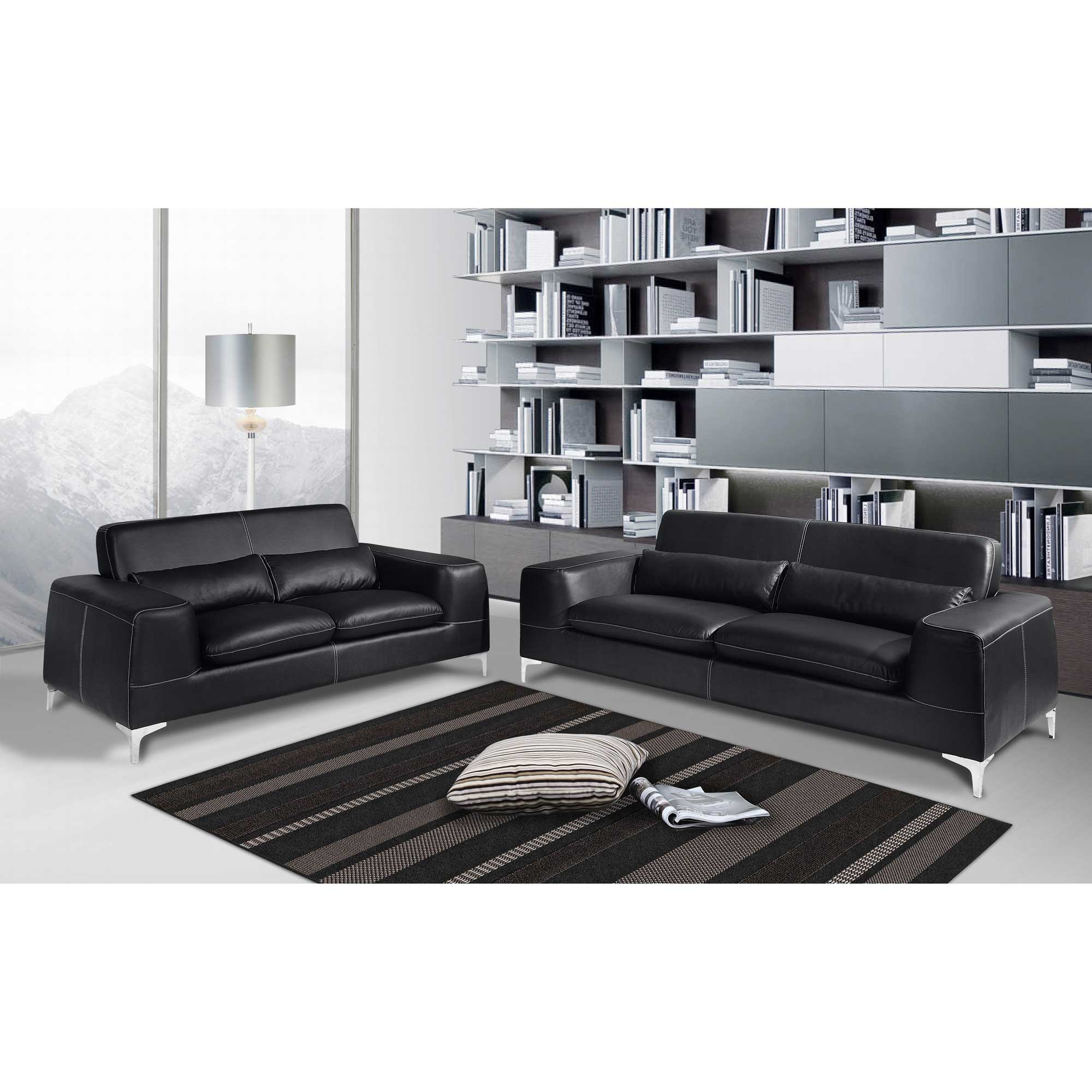 salon canap 3 places 2 places minneapolis cuir de buffle sur delamaison ventes pas. Black Bedroom Furniture Sets. Home Design Ideas