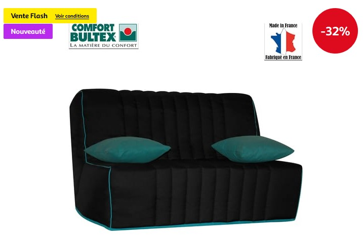 banquette bz lali bultex pas cher banquette auchan ventes pas. Black Bedroom Furniture Sets. Home Design Ideas