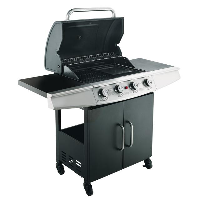 Barbecue gaz Blooma Barker 4 noir | Castorama