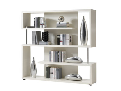 promo biblioth que conforama biblioth que twist coloris blanc prix 287 20 euros. Black Bedroom Furniture Sets. Home Design Ideas