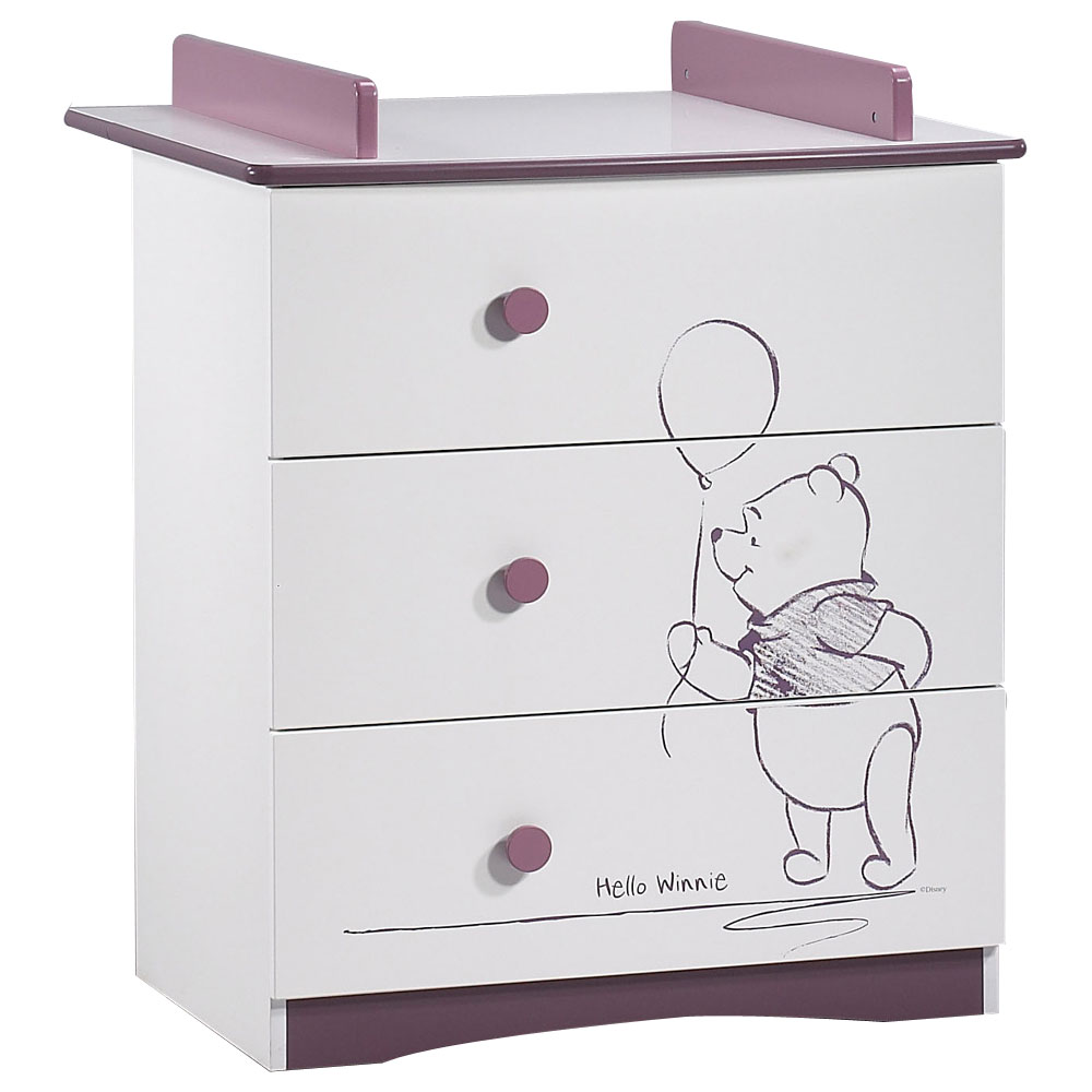 Commode aubert hello winnie commode plan langer de - Commode bebe cdiscount ...