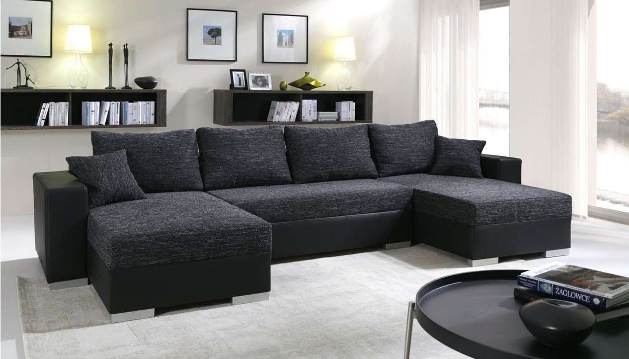 canap d 39 angle convertible panoramique 5 6 places enno pas cher canap amazon ventes pas. Black Bedroom Furniture Sets. Home Design Ideas