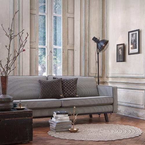 Canapé en polyester Trevira motif géométrique Rebel