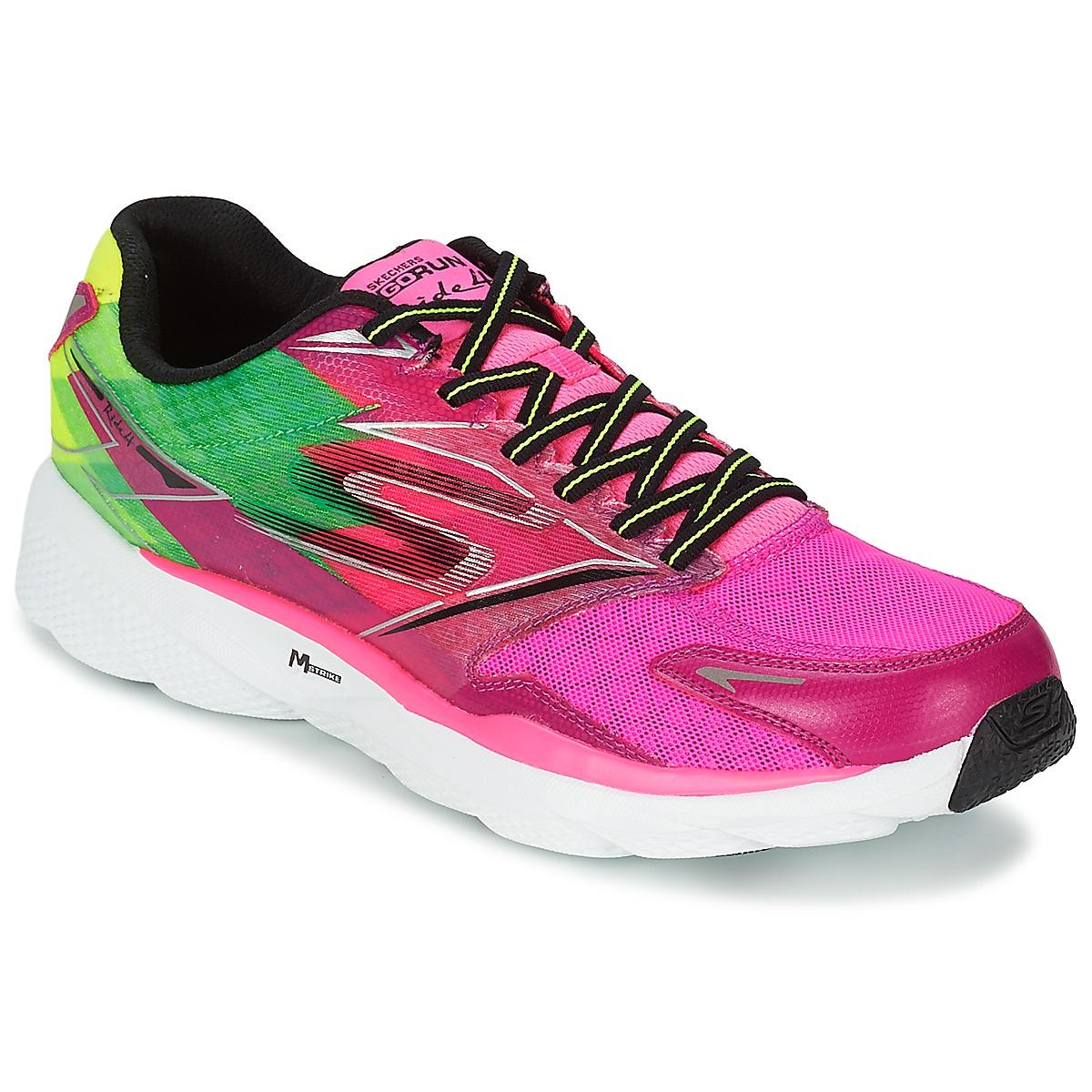 chaussures de running skechers go run ride 4 rose baskets femme skechers spartoo ventes pas. Black Bedroom Furniture Sets. Home Design Ideas
