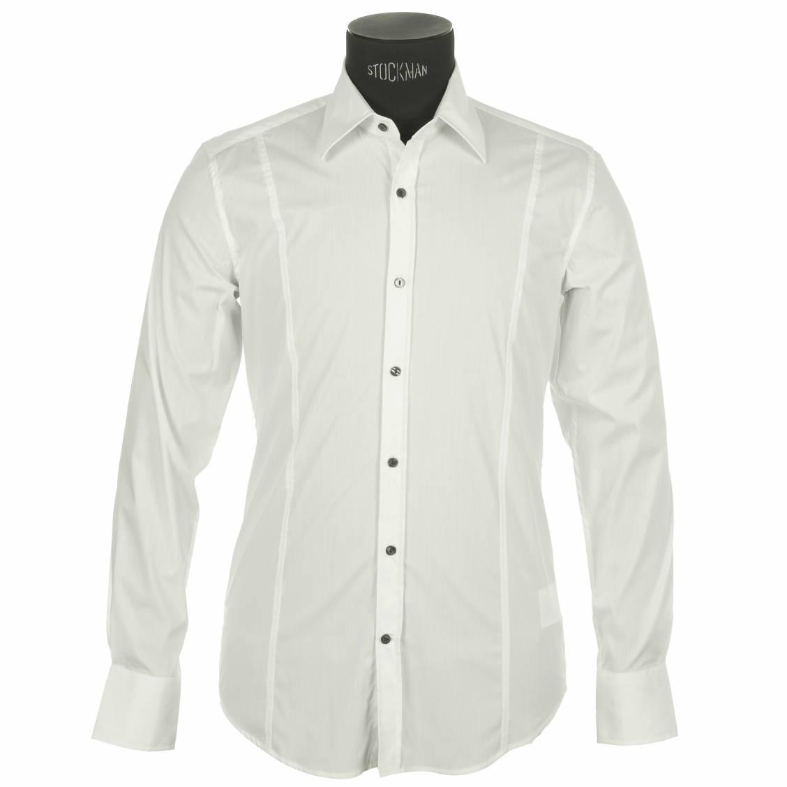 chemise blanche homme cintree. Black Bedroom Furniture Sets. Home Design Ideas