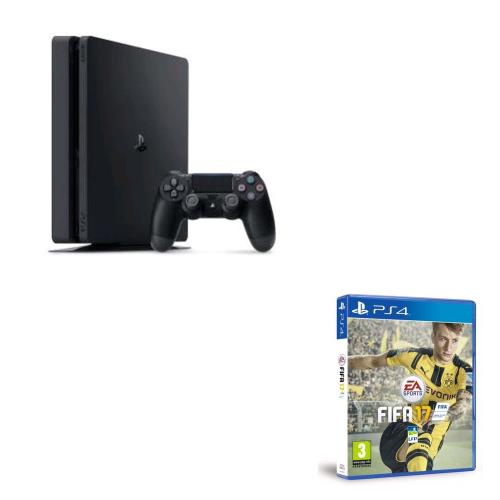 console sony ps4 slim 1 to fifa 17 ps4 console fnac. Black Bedroom Furniture Sets. Home Design Ideas