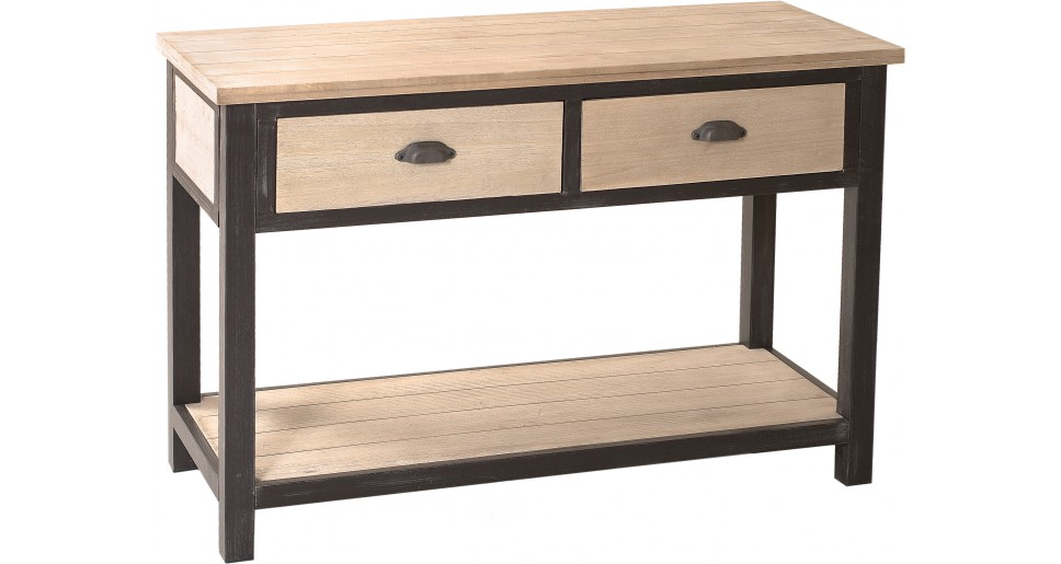 console destock meubles console industrielle double