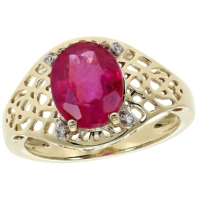 Harry ivens bague or rubis 2.57 carats - Bague M6 Boutique