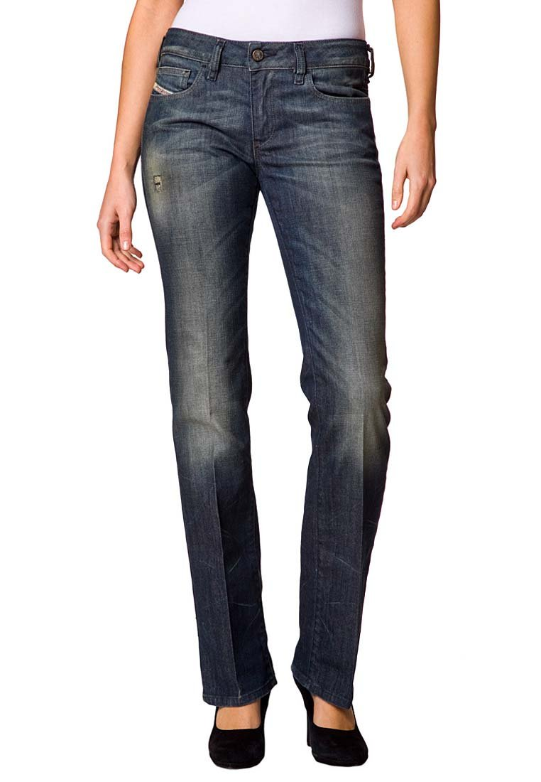 jeans femme zalando diesel ronhary jean droit bleu prix 113 97 euros ventes pas. Black Bedroom Furniture Sets. Home Design Ideas
