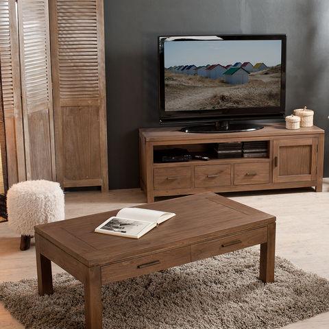 Meuble tv bas 3 tiroirs laura meuble tv auchan ventes for Meuble tv auchan