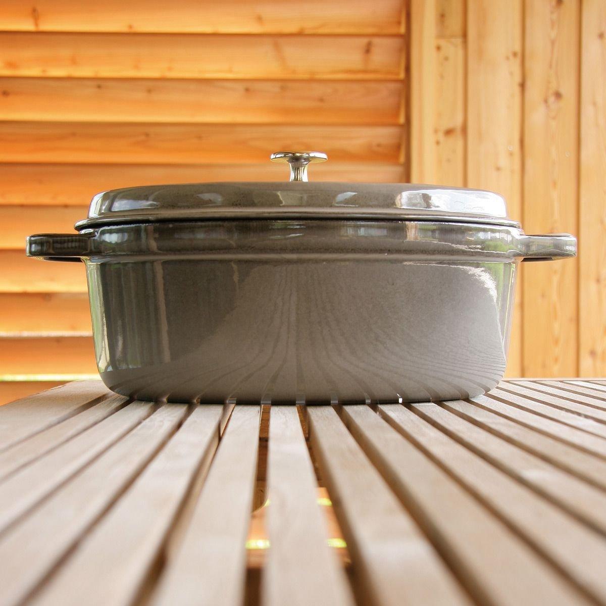 cocotte delamaison promo cocotte fonte ovale staub prix 212 00 euros ventes pas. Black Bedroom Furniture Sets. Home Design Ideas