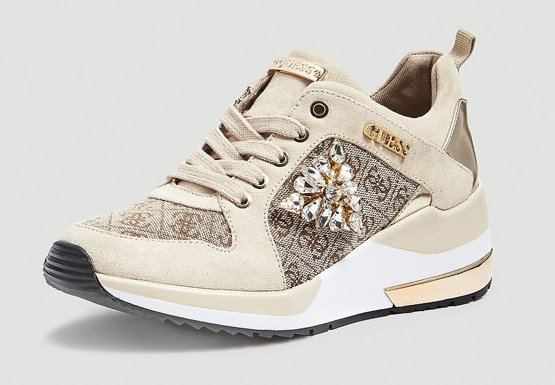 SNEAKERS JARYD IMPRIME LOGO Marron GUESS