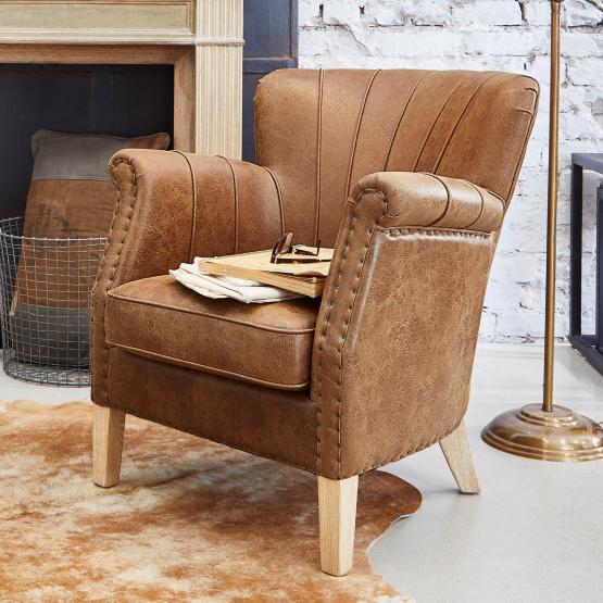 Fauteuil Bartley Style ancien luxueux