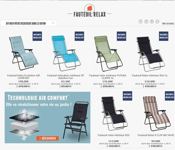 Lafuma boutique 30 de remise sur le mobilier lafuma - Code promotionnel mobilier moss ...
