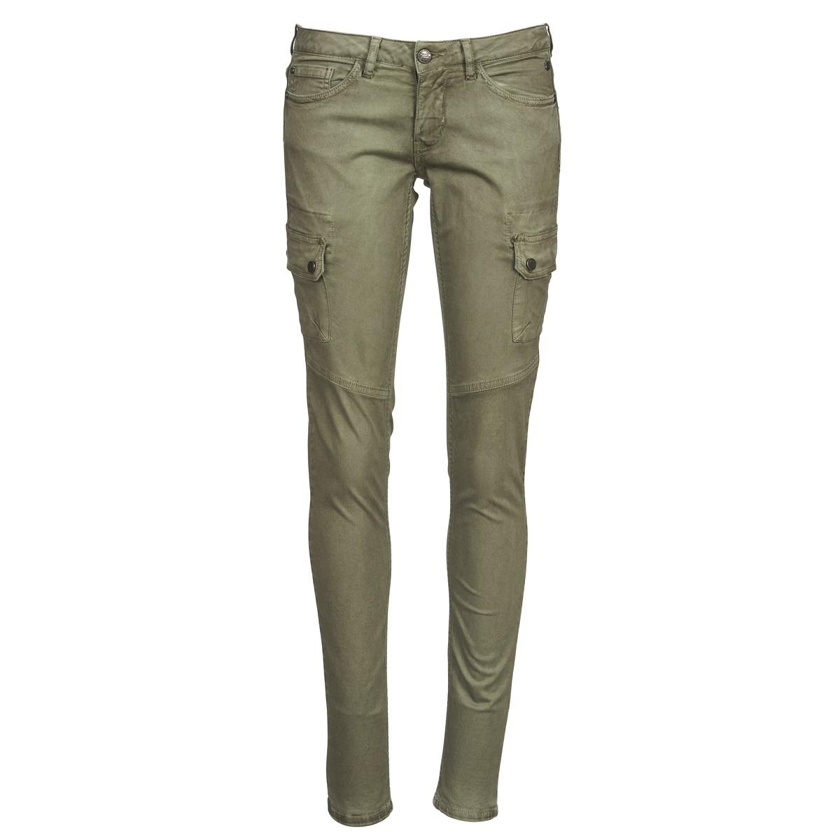 pantalon 5 poches freeman t porter paulyne kaki pantalon femme spartoo ventes pas. Black Bedroom Furniture Sets. Home Design Ideas
