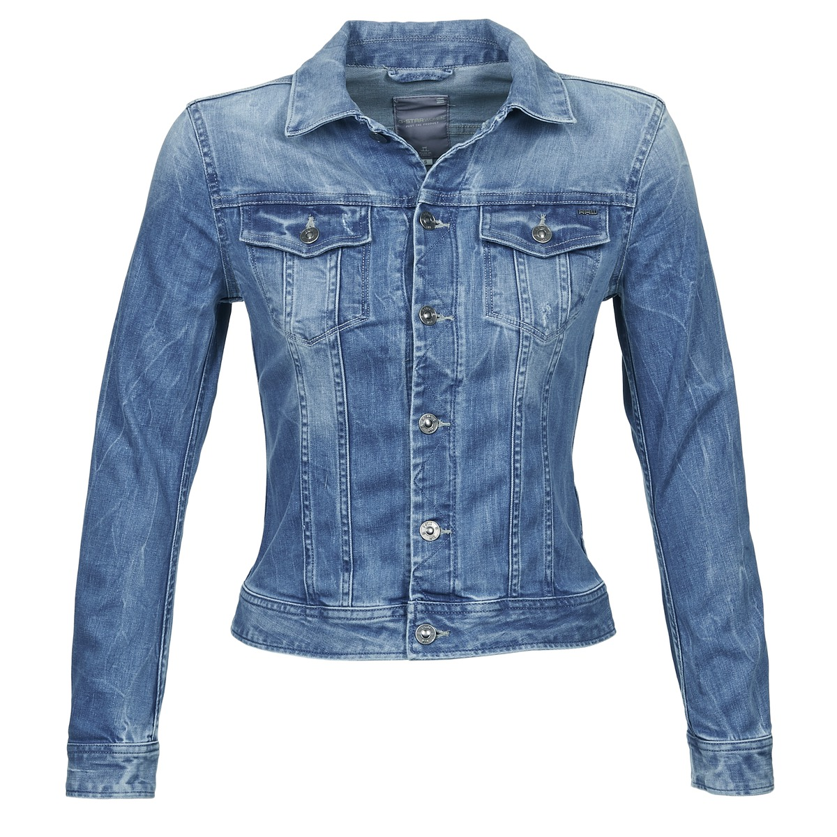 veste en jean g star raw wisk stretch denim bleu clair veste en jean femme spartoo ventes pas. Black Bedroom Furniture Sets. Home Design Ideas