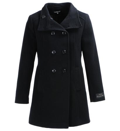 manteau femme galeries lafayette manteau laine court briefing double boutonnage noir ventes. Black Bedroom Furniture Sets. Home Design Ideas